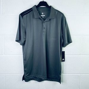 Adidas Golf Medium Polo Shirt Collared Solid Gray